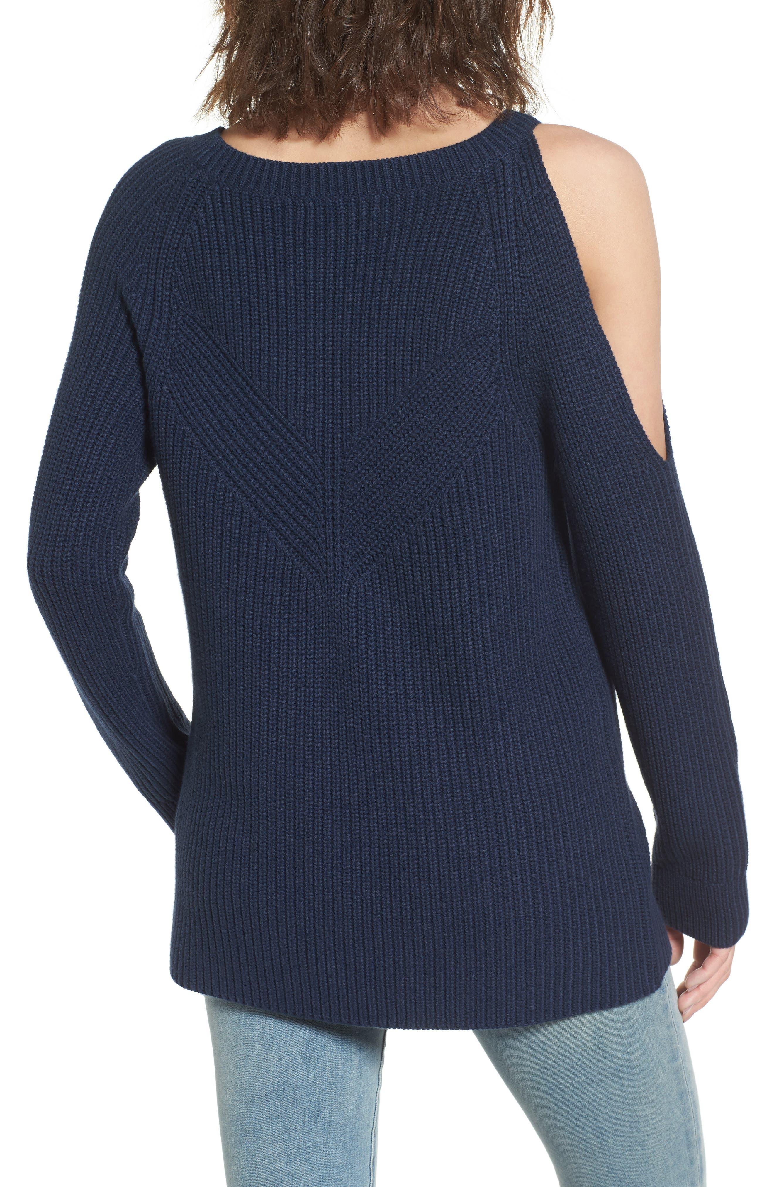 ,                             Asymmetrical Cold Shoulder Sweater,                             Alternate thumbnail 14, color,                             400