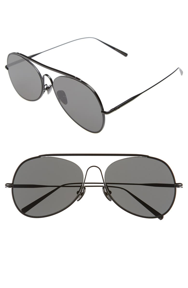 a388c8a505098 Acne Studios Large Spitfire 57mm Aviator Sunglasses