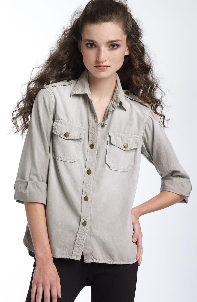 CURRENT/ELLIOTT 'The Perfect' Denim Shirt, Main, color, 090