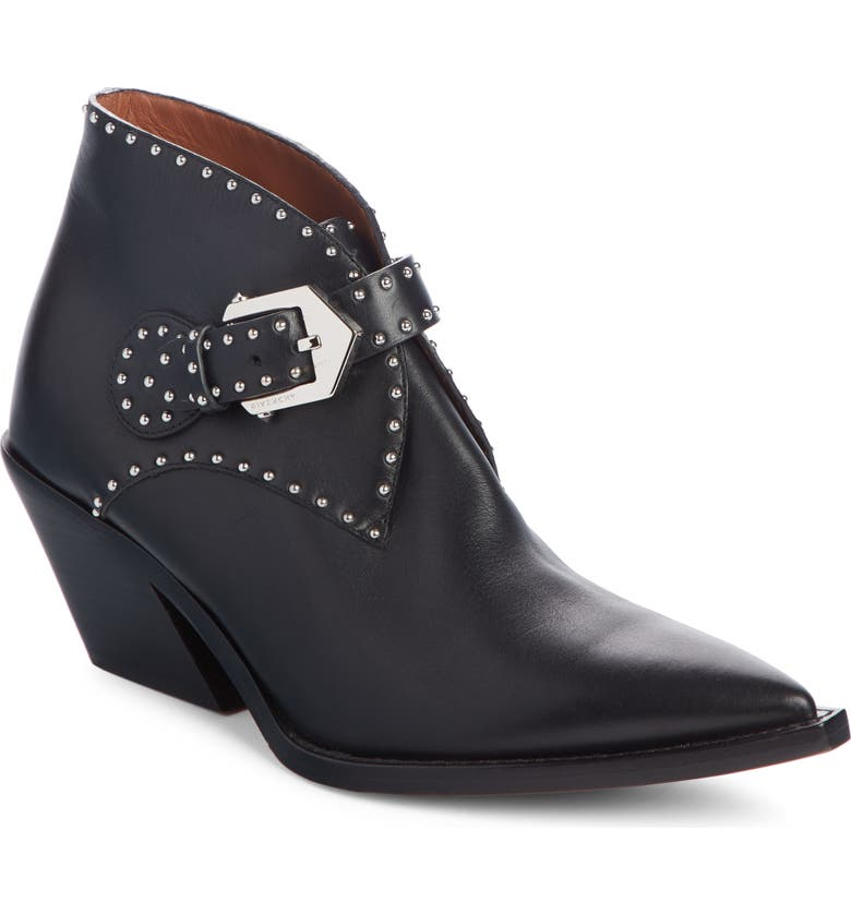 GIVENCHY Elegant Studs Pointy Toe Boot, Main, color, BLACK