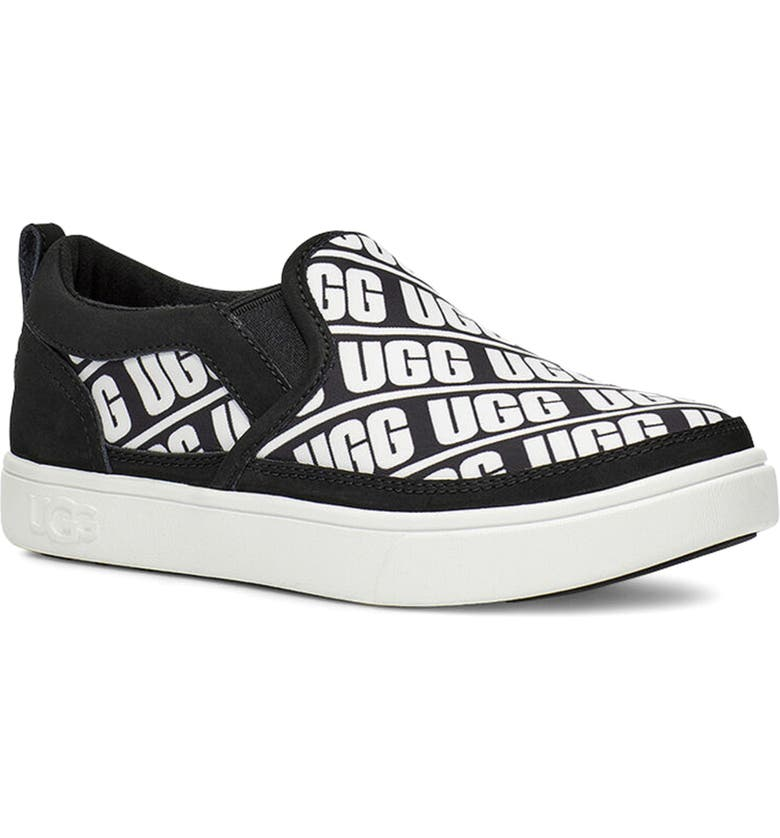 UGG<SUP>®</SUP> Caplan Logo Slip-On Sneaker, Main, color, 001