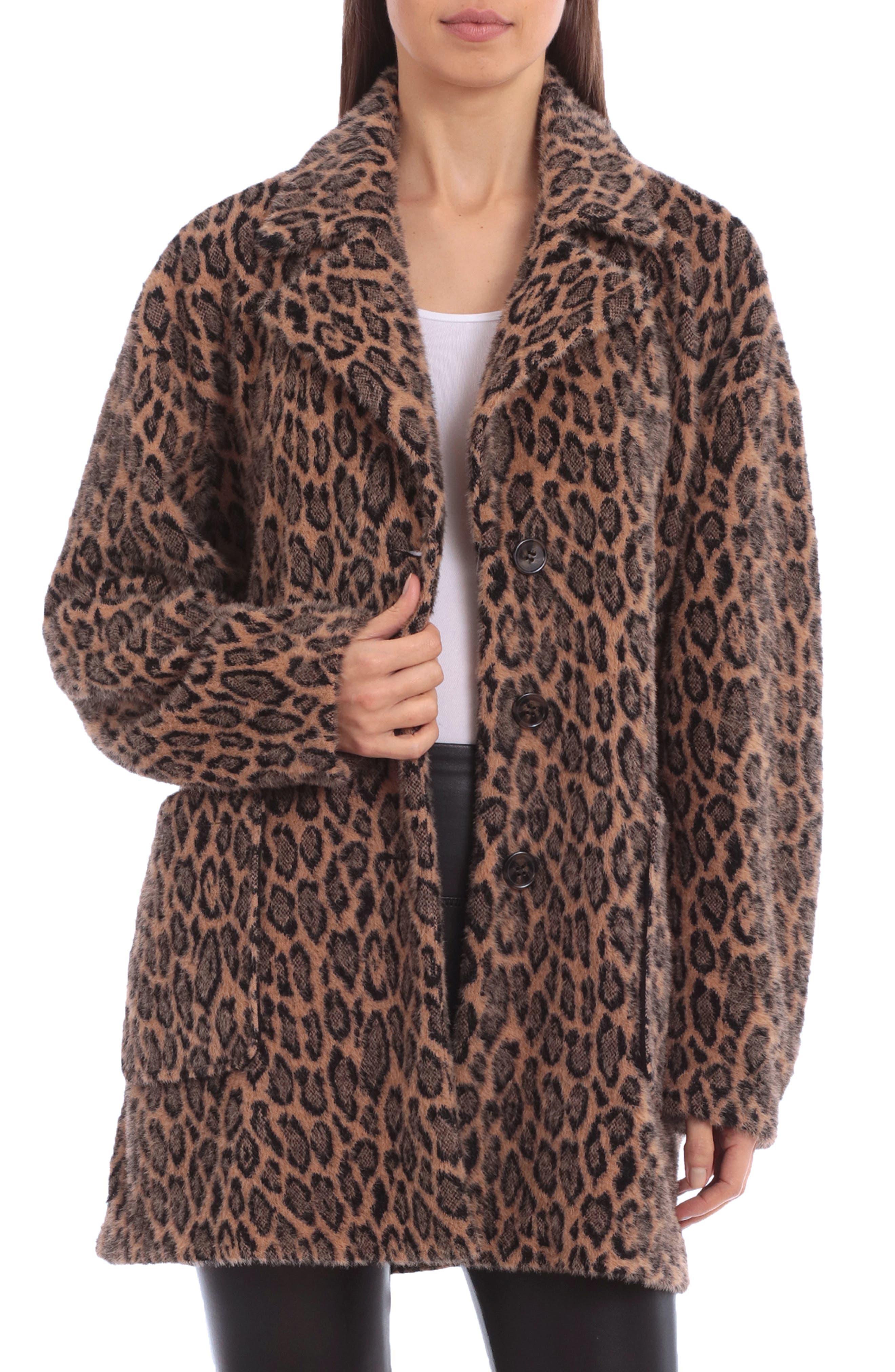 Animal Print Fleece Coat