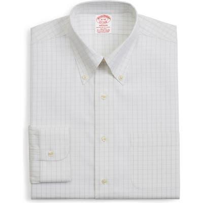 Brooks Brothers Madison Classic Fit Stretch Windowpane Dress Shirt