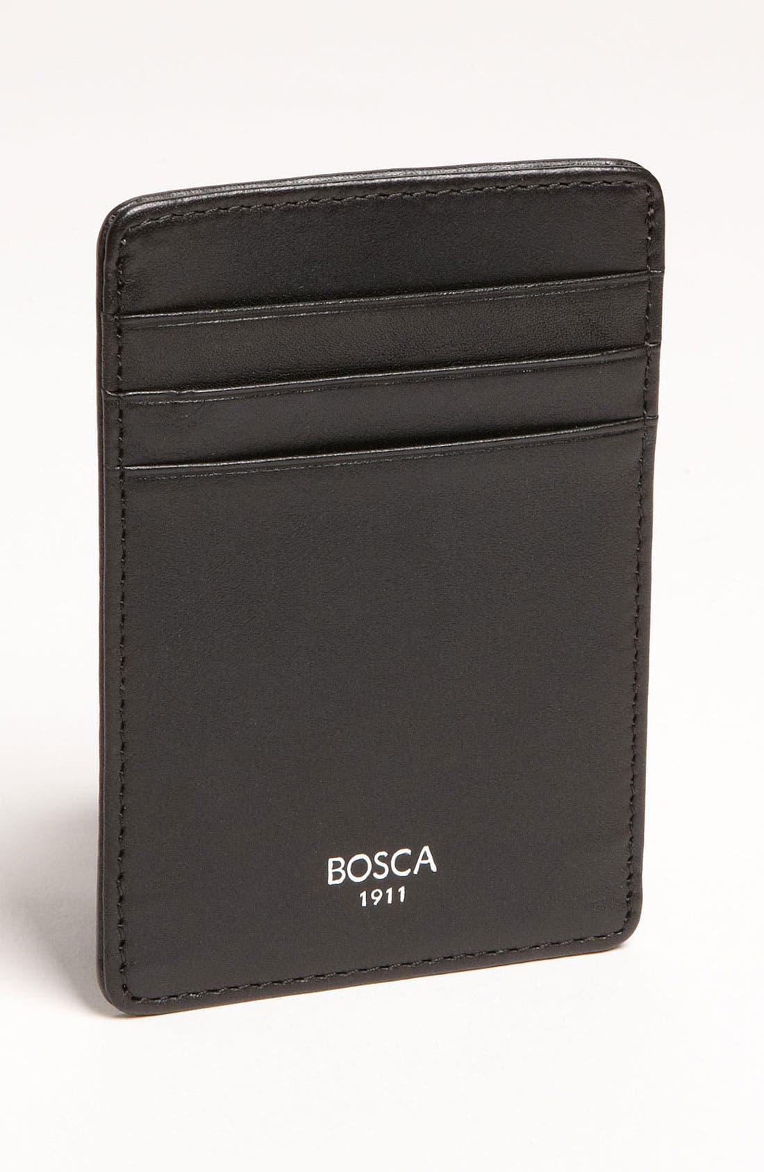 Leather Money Clip Card Case