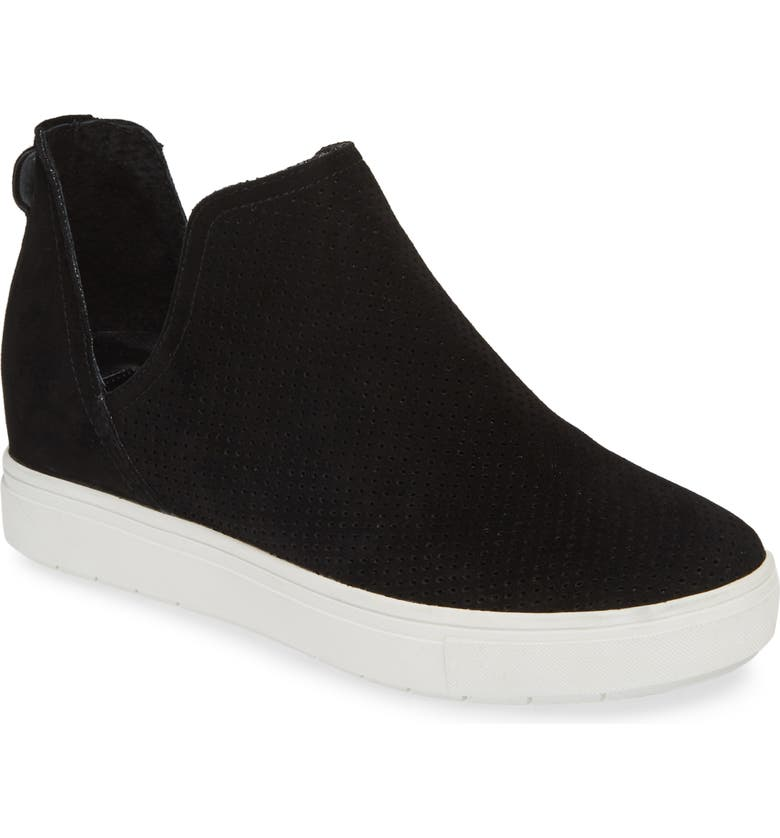 STEVEN BY STEVE MADDEN Canares High Top Sneaker, Main, color, BLACK SUEDE