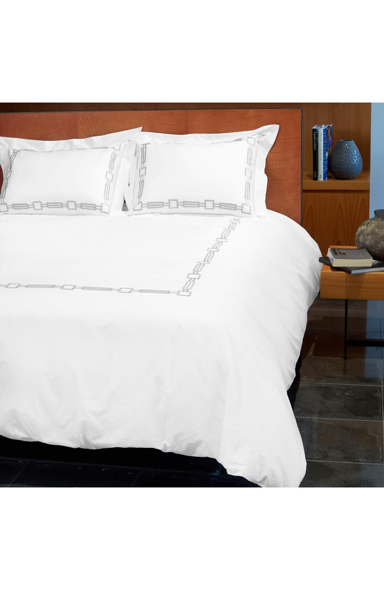 SIGNORIA FIRENZE Retro 600 Thread Count Duvet Cover, Main, color, 250