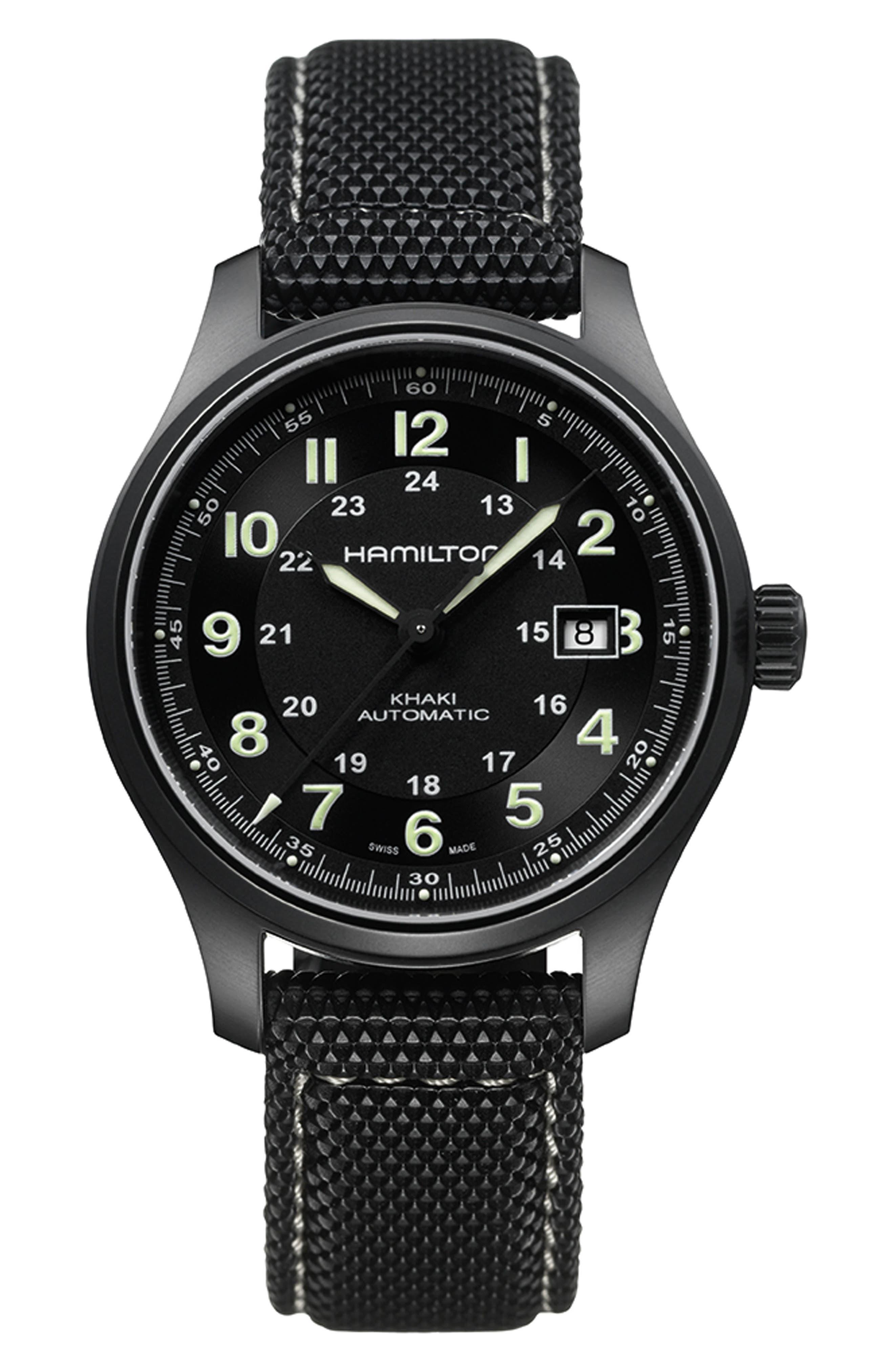 Khaki Field Automatic Silicone Strap Watch