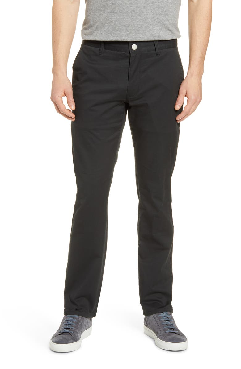 BONOBOS Tailored Fit Stretch Washed Cotton Chinos, Main, color, JET BLACK