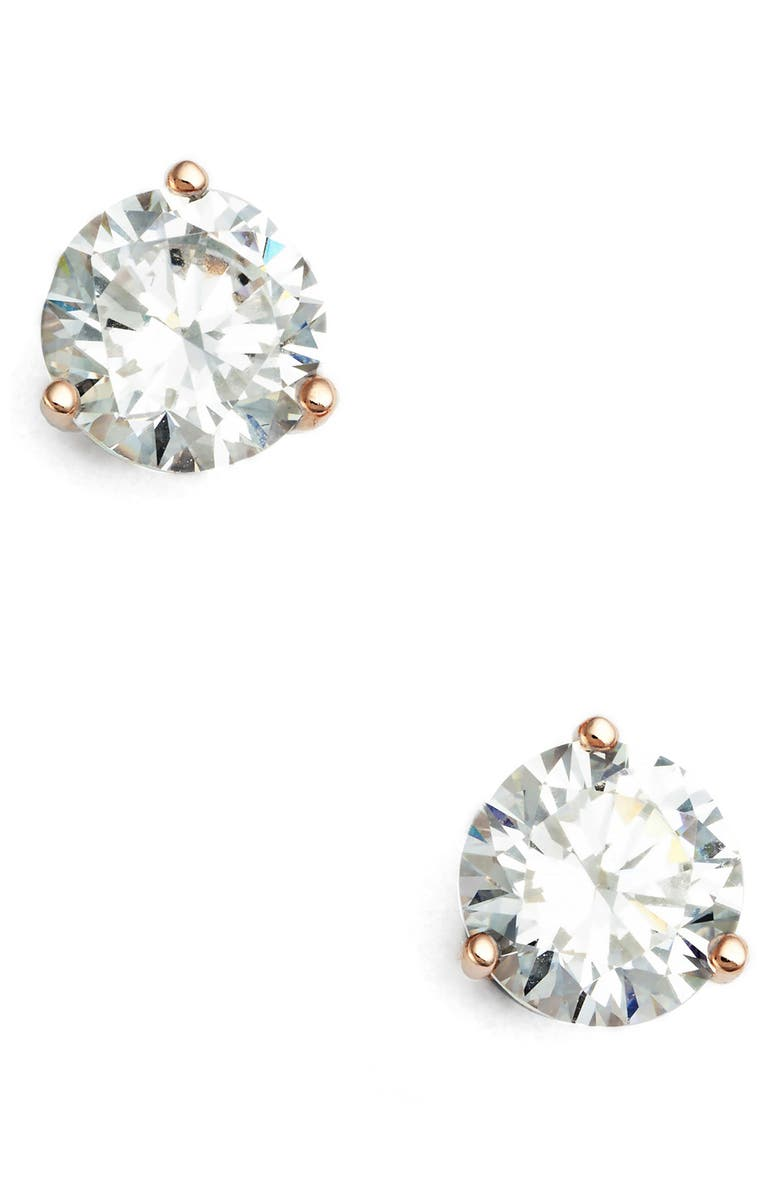 NORDSTROM 2ct tw Cubic Zirconia Earrings, Main, color, ROSE GOLD