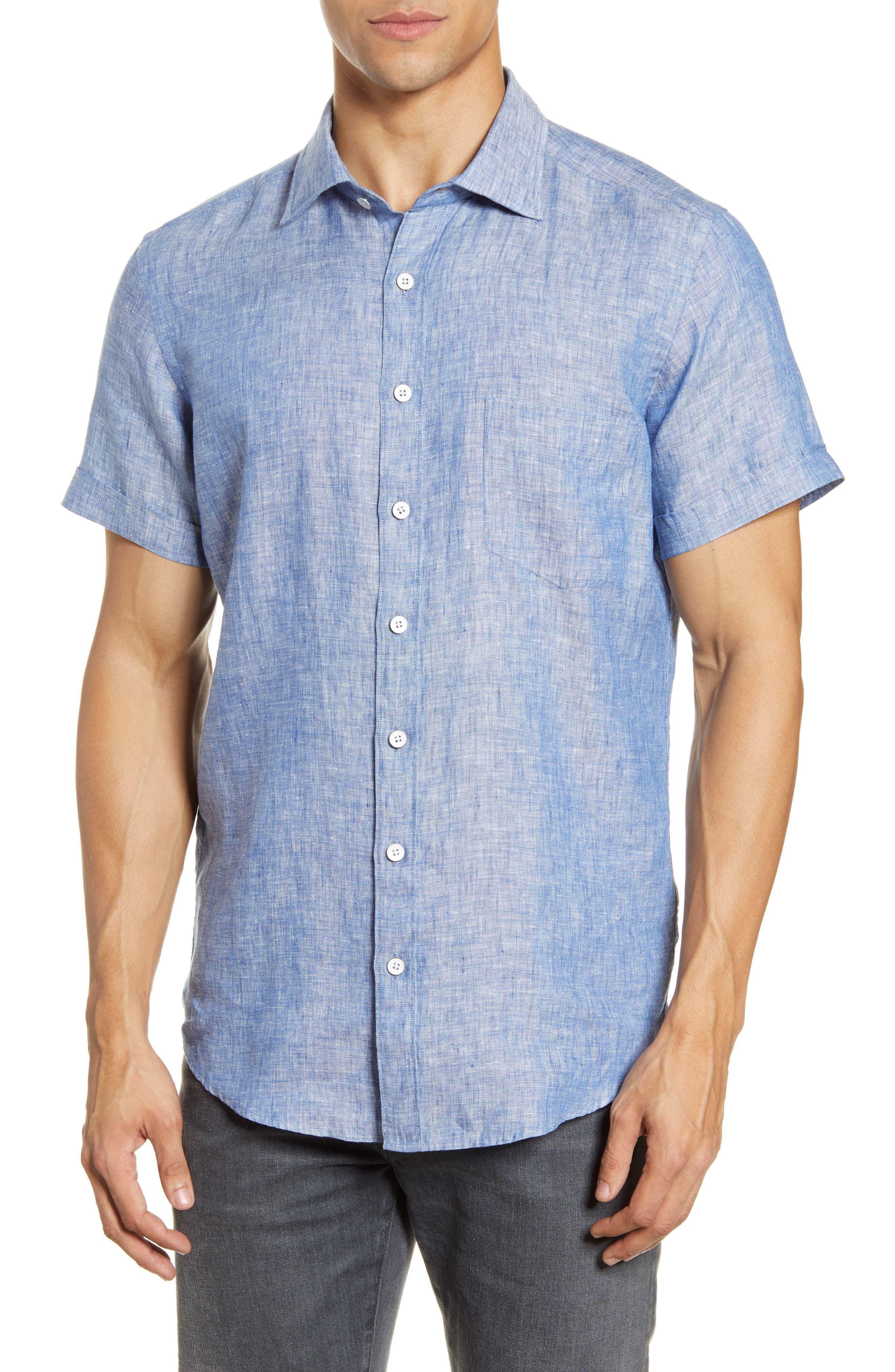 Image of RODD AND GUNN Regular Fit Ellerslie Linen Shirt