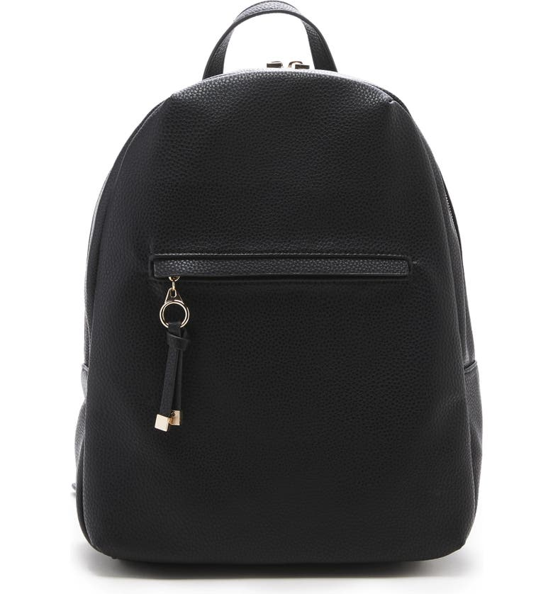 SOLE SOCIETY Deana Faux Leather Backpack, Main, color, 001
