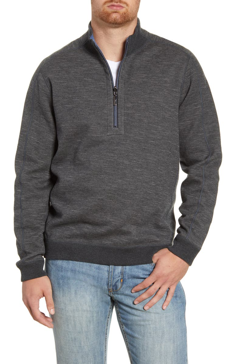 TOMMY BAHAMA Flipsider Reversible Quarter-Zip Pullover, Main, color, 003