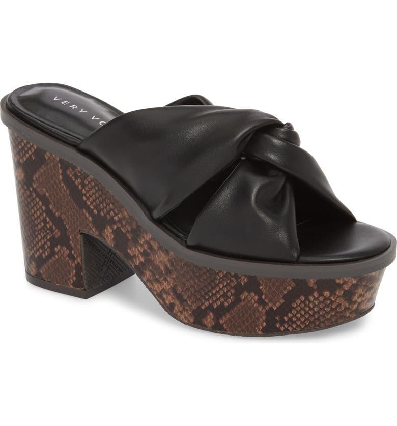 VERY VOLATILE Ainsley Platform Sandal, Main, color, BLACK