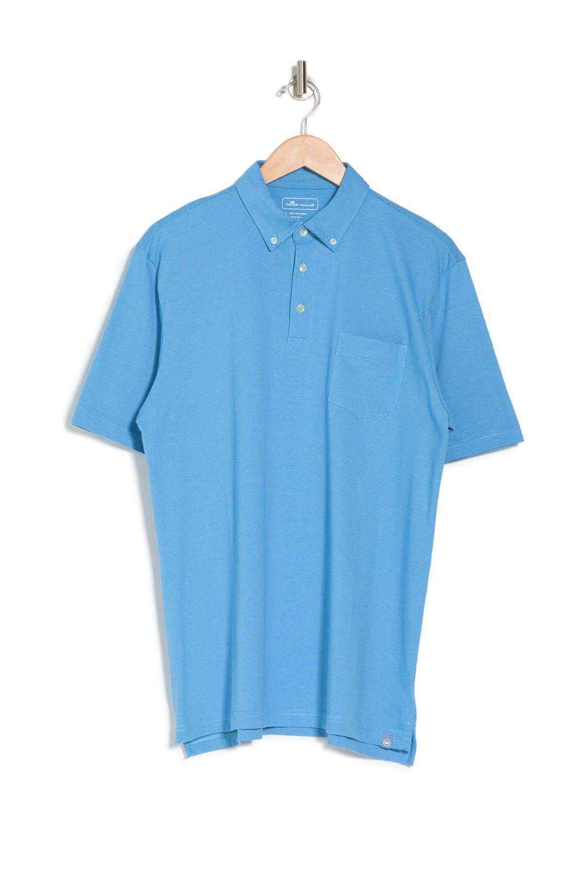Image of Peter Millar Shark Island Stripe Polo Shirt