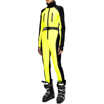 Topshop Sno Neon Star Water Repellent Jumpsuit, US (fits like 6-8) - Yellow
