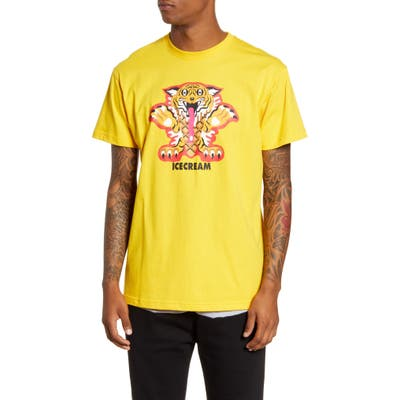 Icecream Grrr Graphic T-Shirt, Yellow