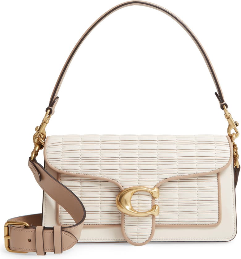 COACH Tabby Pleated Leather Shoulder Bag, Main, color, 250