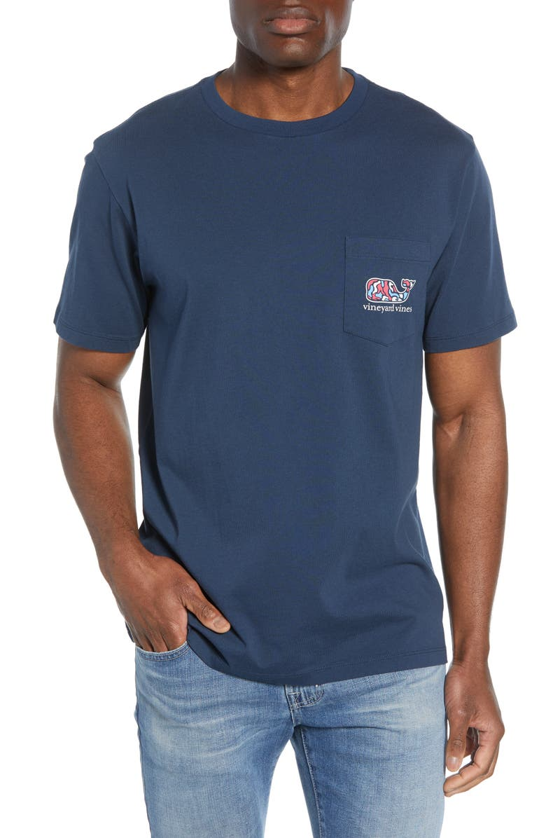 VINEYARD VINES Camo Utility Vehicle Pocket T-Shirt, Main, color, BLUE BLAZER
