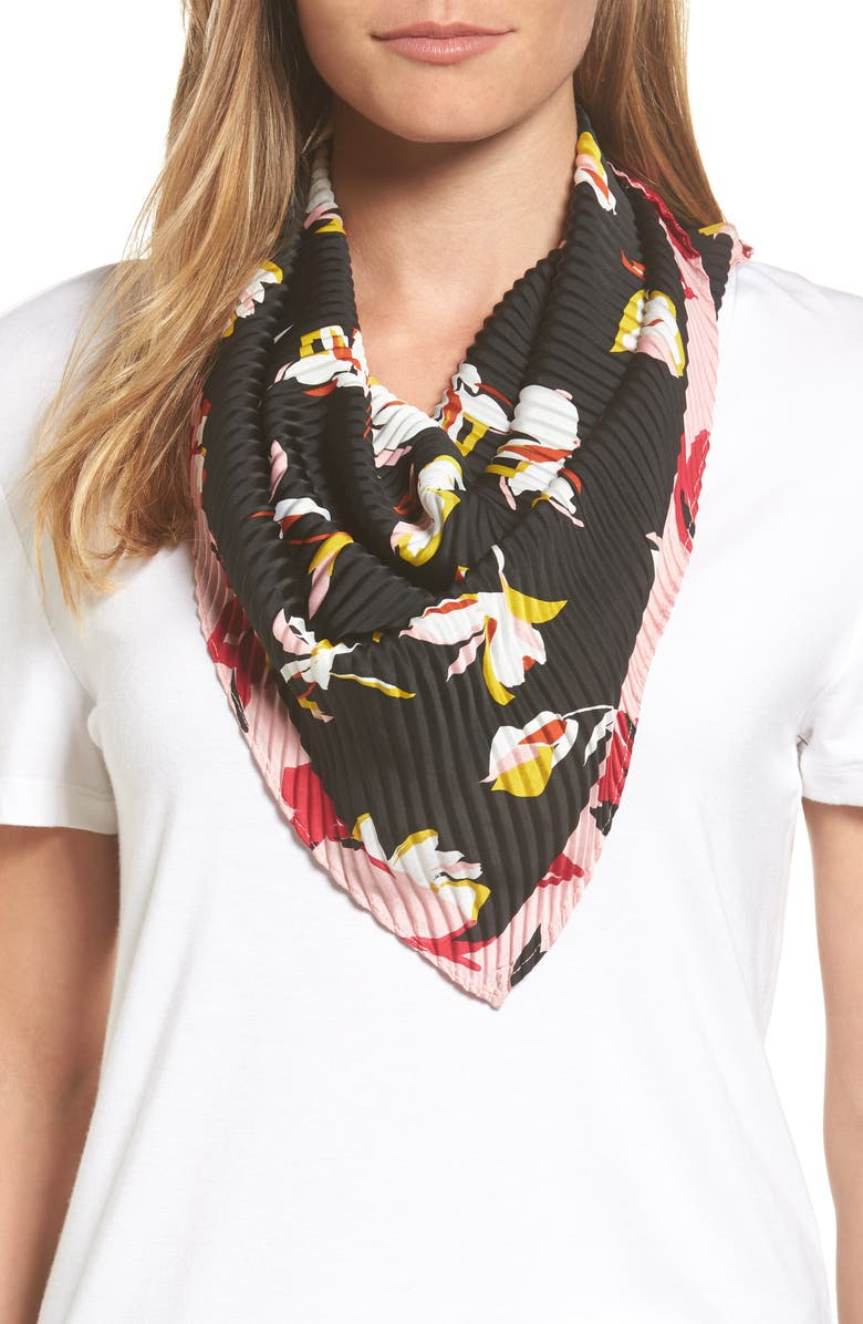 HALOGEN<SUP>®</SUP> Pleated Scarf, Main, color, 001