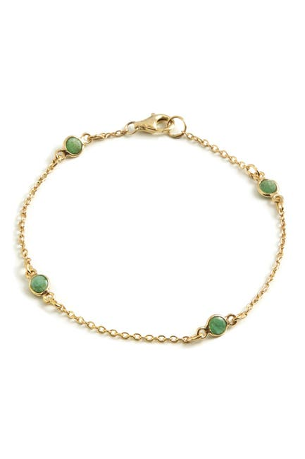 Image of Savvy Cie 18K Gold Vermeil Emerald By The Yard Classic Bracelet