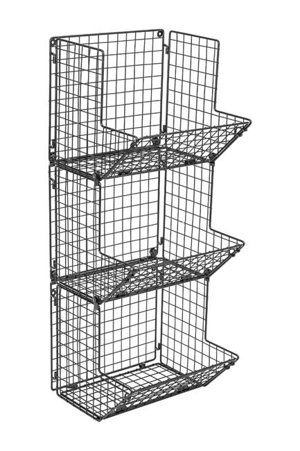 Image of Sorbus 3 Tier Wall Mounted Storage Rack - Black