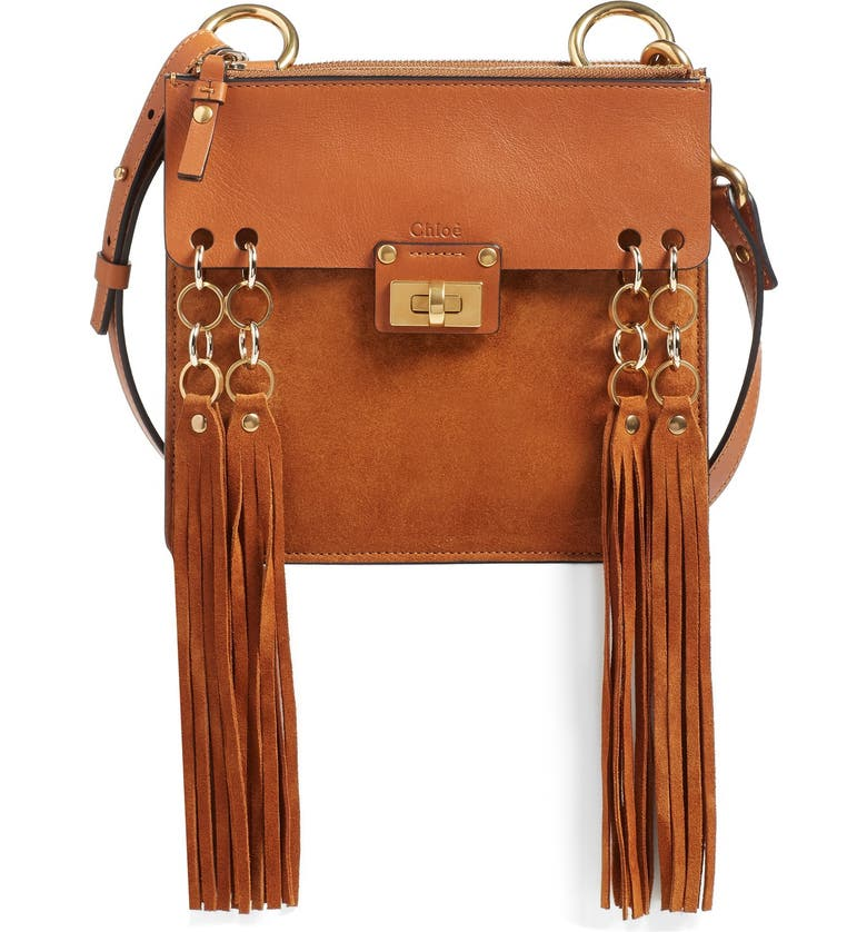 7521718d31 'Small Jane' Tassel Suede & Leather Crossbody Bag, Main, color, ...