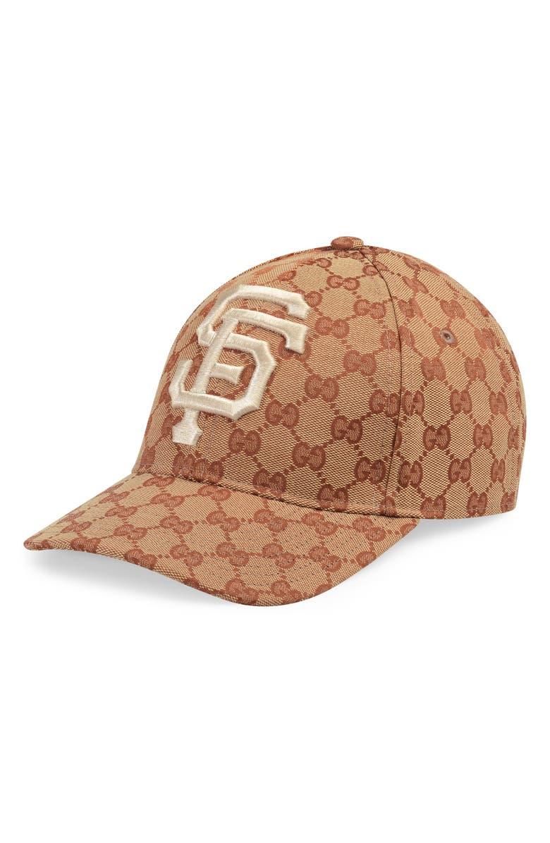 GUCCI Logo Baseball Cap, Main, color, 200