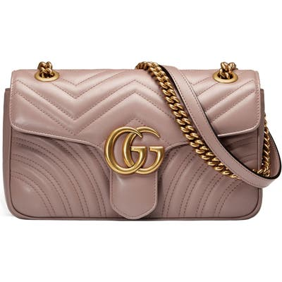 Gucci Small Matelasse Leather Shoulder Bag - Beige