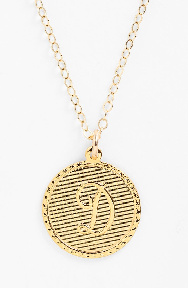 MOON AND LOLA 'Dalton' Initial Pendant Necklace, Main, color, 713