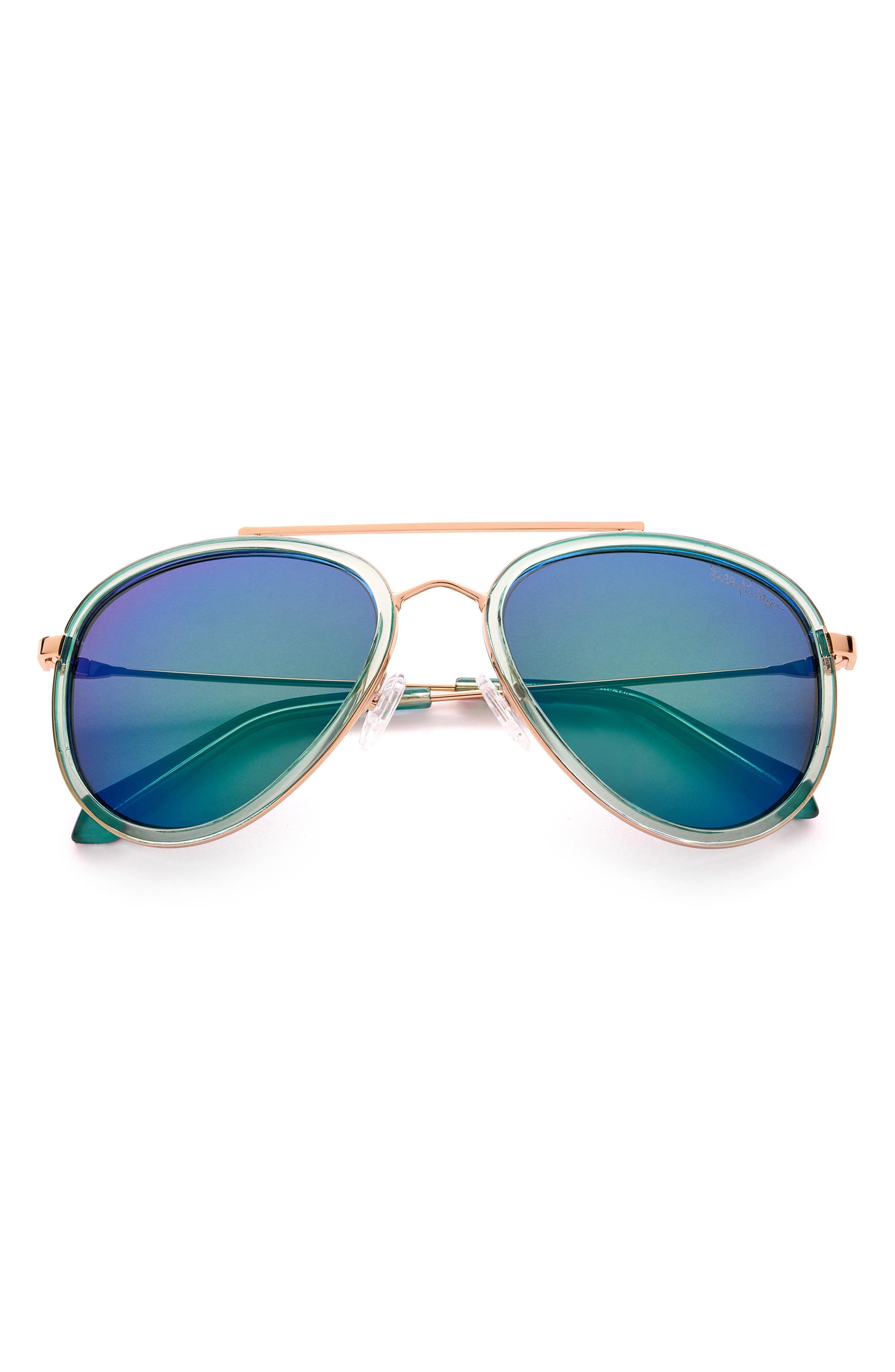 Women's Lilly Pulitzer 55mm Aviator Sunglasses