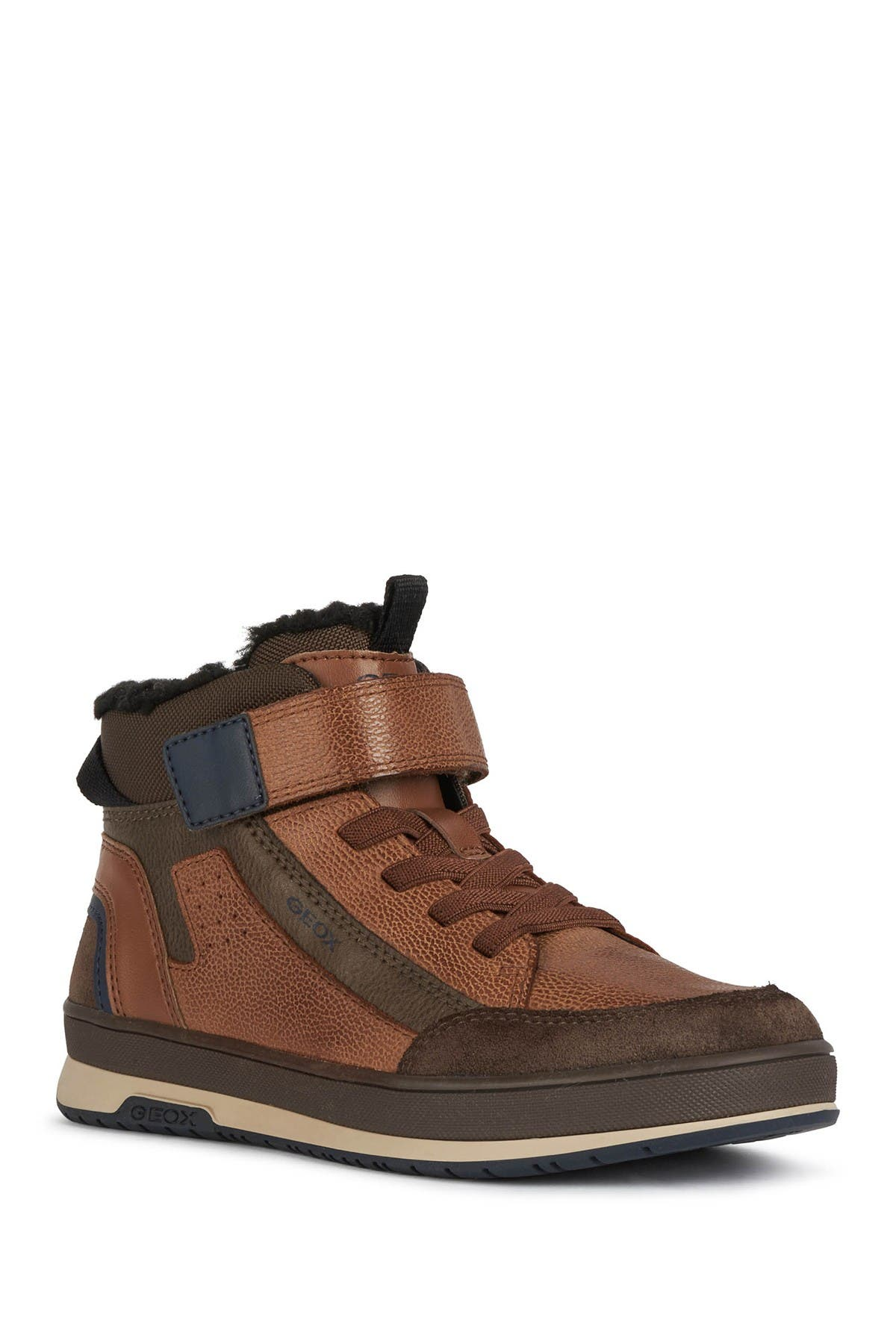Image of GEOX Astuto Faux Shearling Lined Sneaker