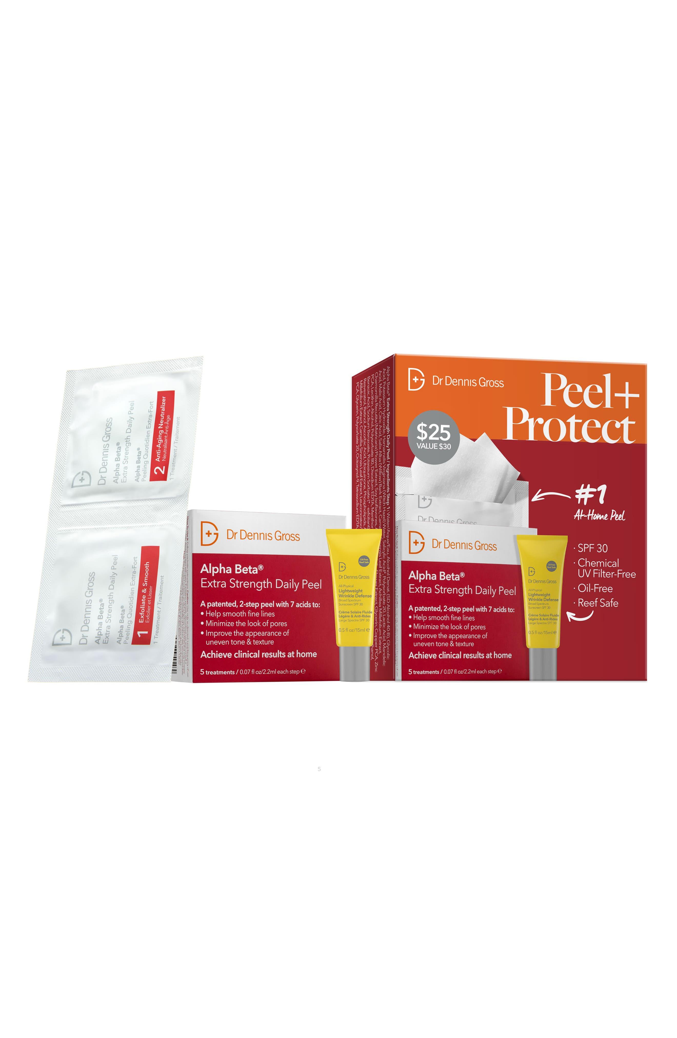 Skincare Peel + Protect Skin Care Set