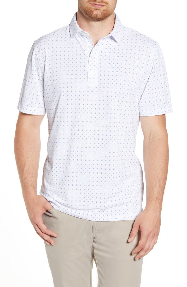 JOHNNIE-O Otis Classic Fit Print Prep-Formance Polo, Main, color, 100