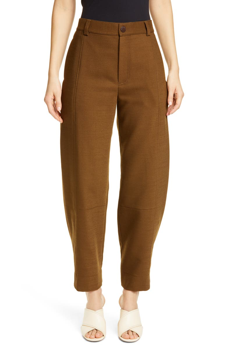 SEE BY CHLOÉ Cool Tailoring Trousers, Main, color, SMOKED BROWN