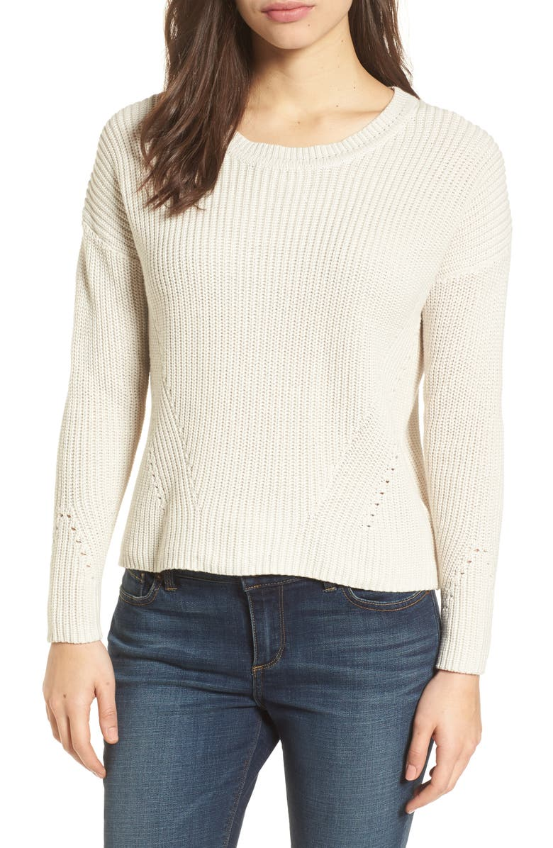LUCKY BRAND Lace-Up Back Sweater, Main, color, 250