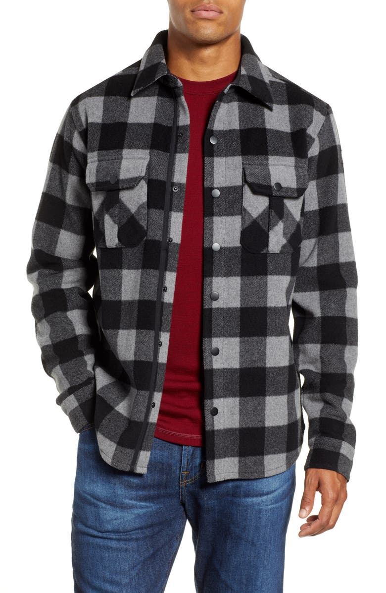 SMARTWOOL Anchor Line Flannel Shirt Jacket, Main, color, 030