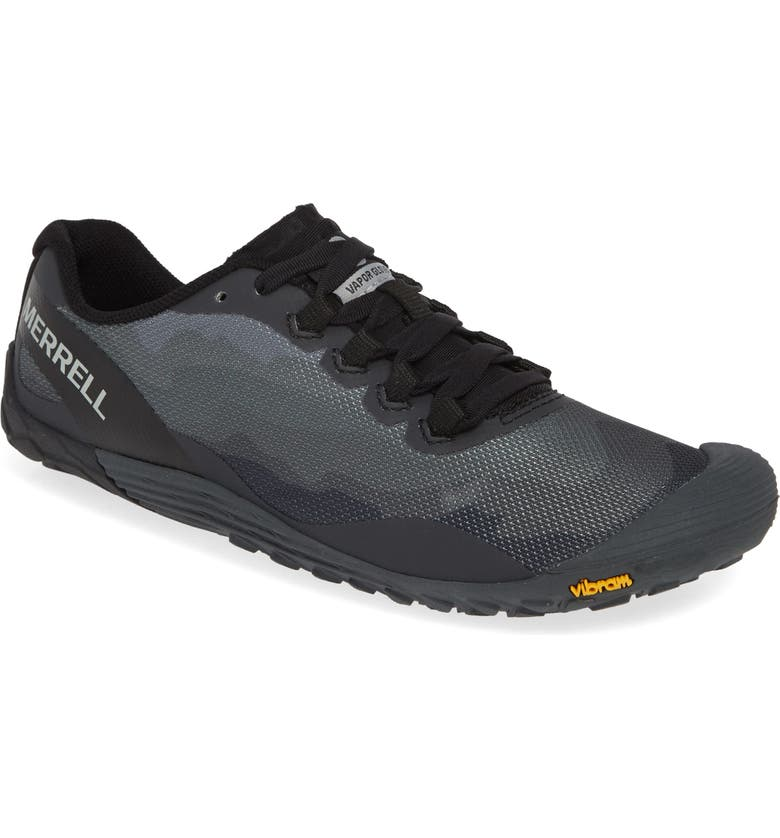 MERRELL Vapor Glove 4 Trail Running Shoe, Main, color, BLACK