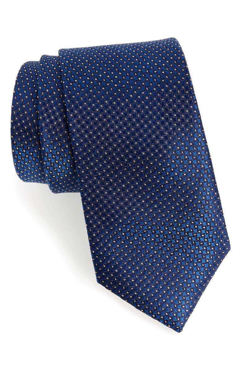 SOUTHERN TIDE Cape Pin Dot Silk Tie, Main, color, 410
