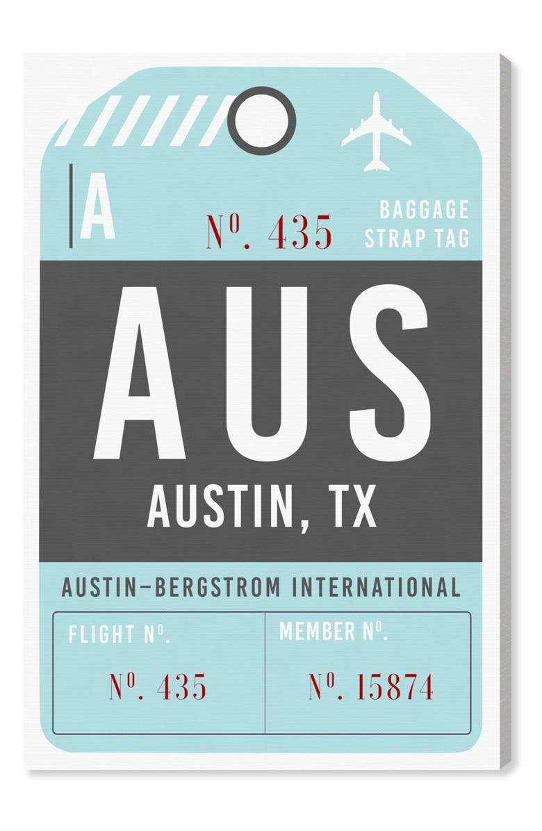 OLIVER GAL Austin Luggage Tag Wall Art, Main, color, BLUE
