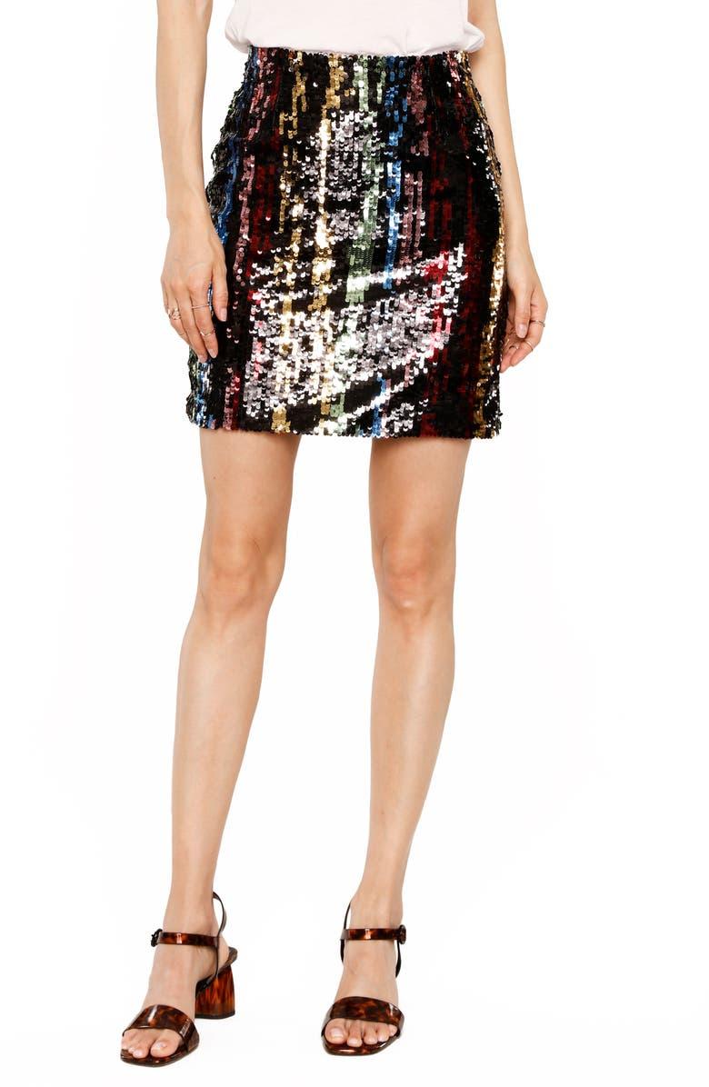 HEARTLOOM Dean Sequin Skirt, Main, color, MULTI