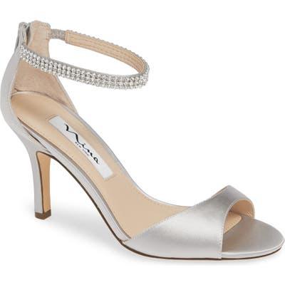 Nina Volanda Ankle Strap Sandal, Metallic