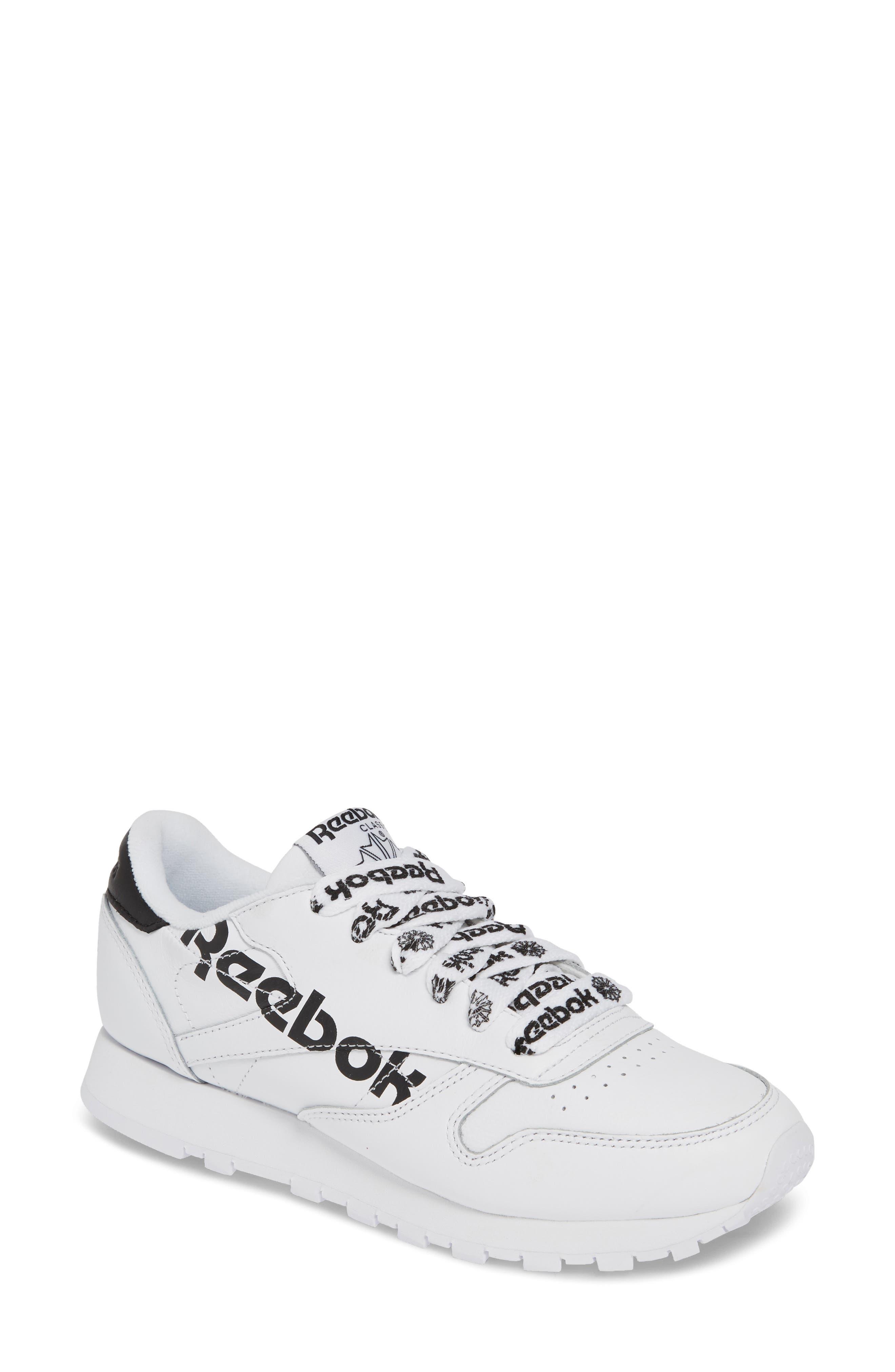 women's reebok classic leather sneaker