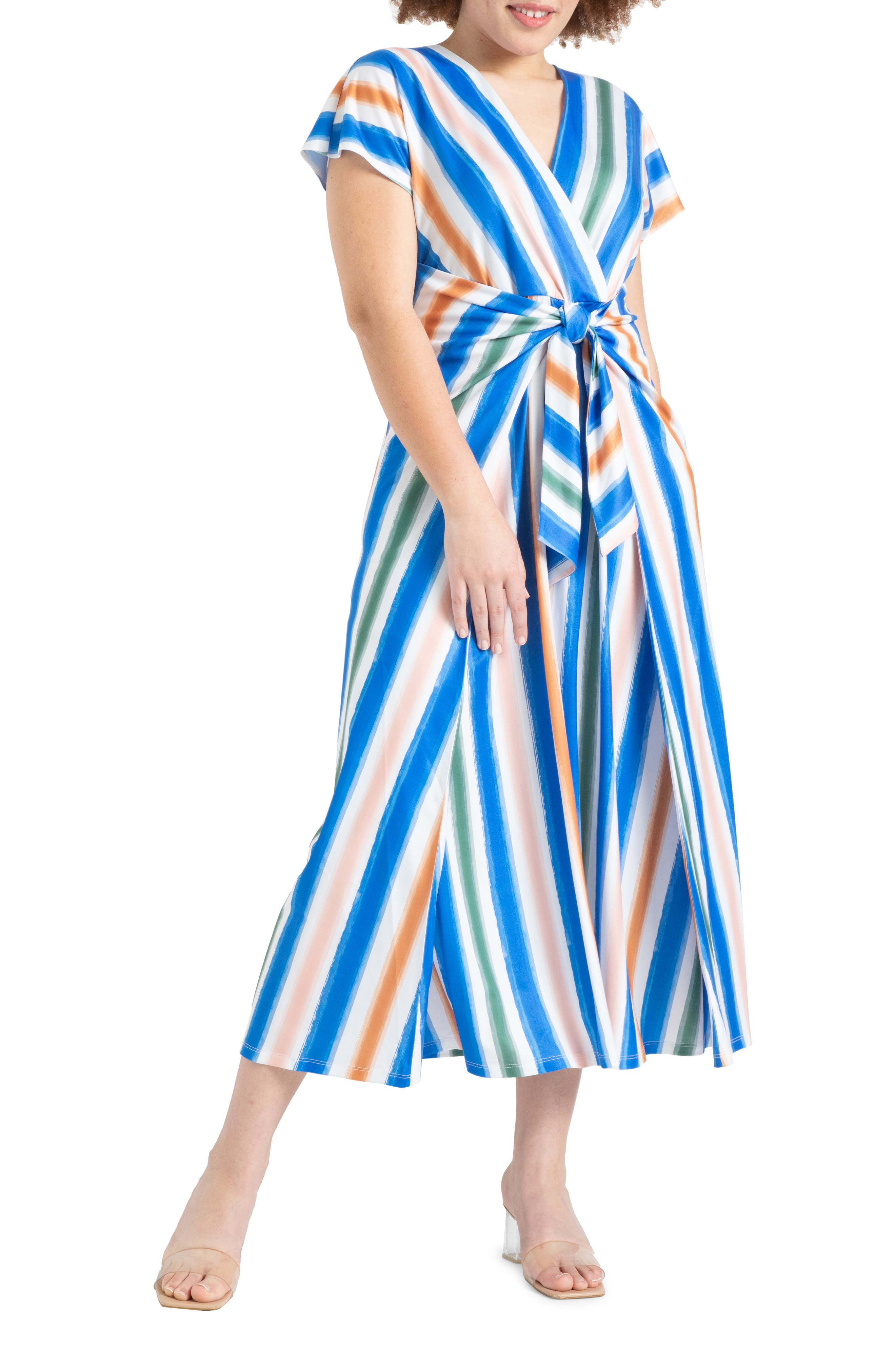 Stripe Easy Knit Maxi Dress