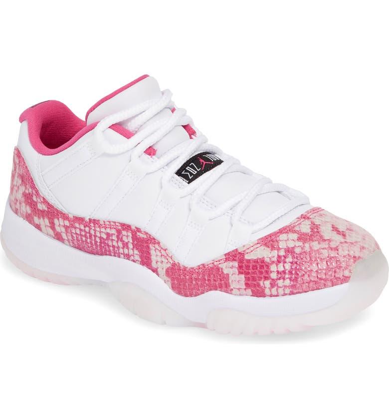 super popular 5c920 331c0 Nike Air Jordan 11 Retro Low Sneaker, Main, color, White Black-