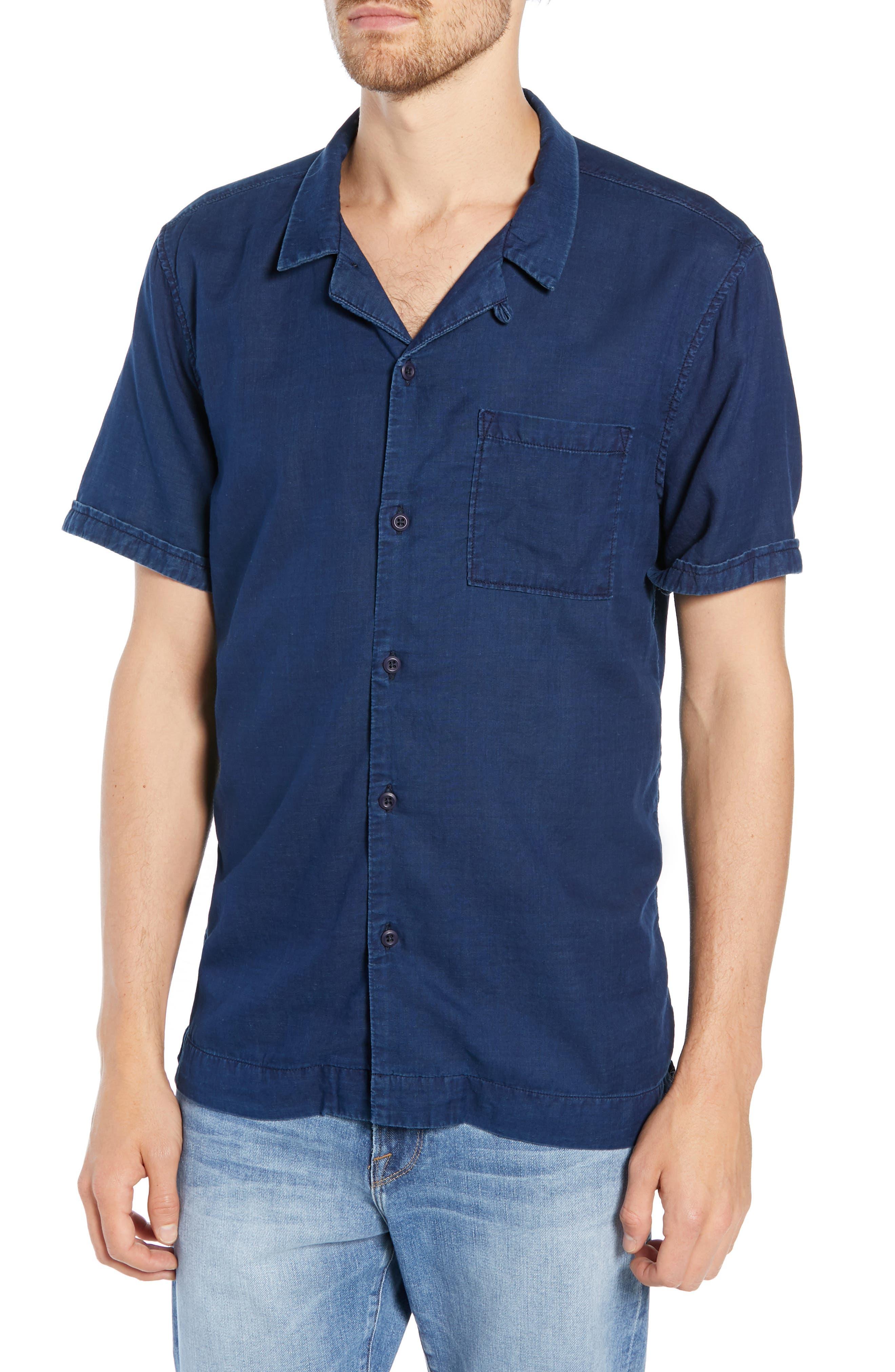 Image of FRAME Slim Fit Camp Shirt
