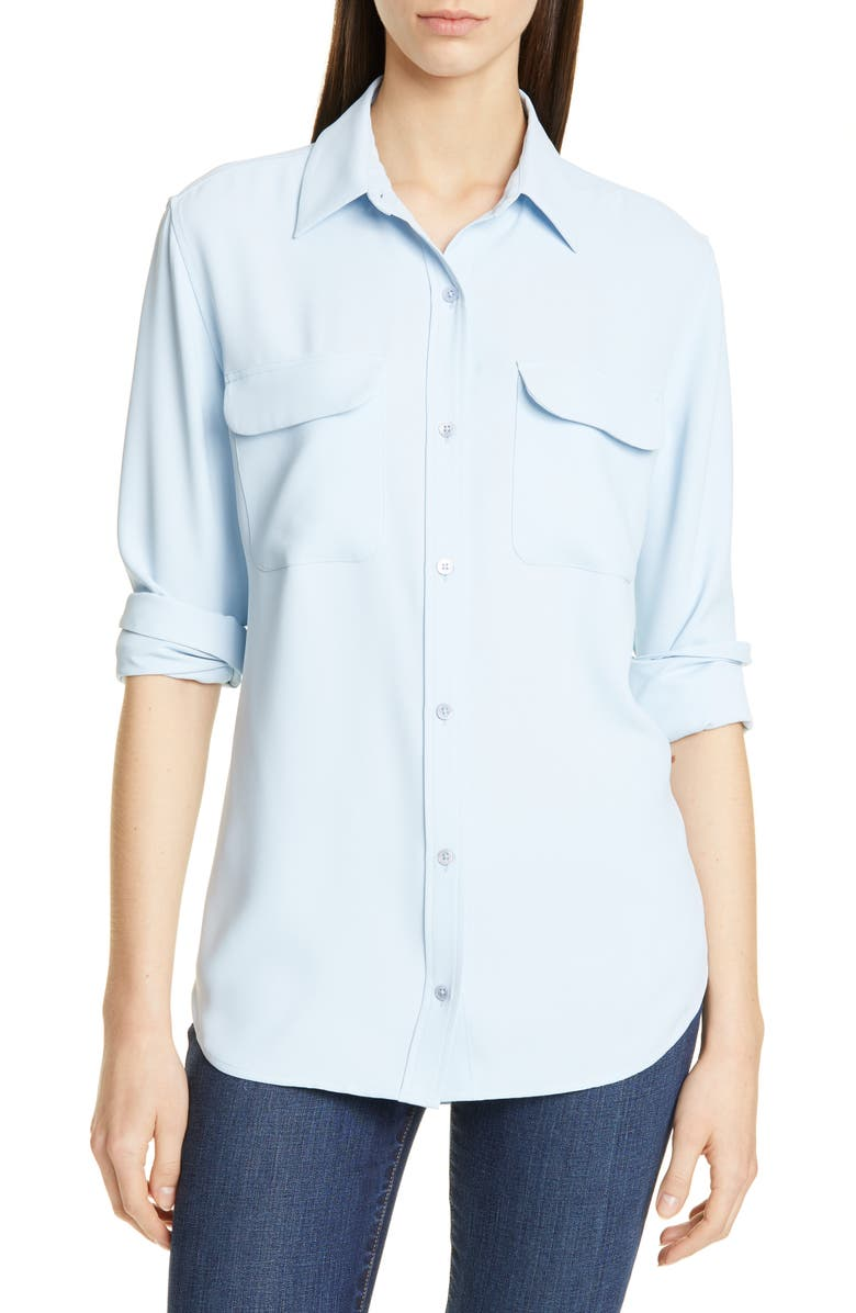 EQUIPMENT Signature Shirt, Main, color, BLEU AERE