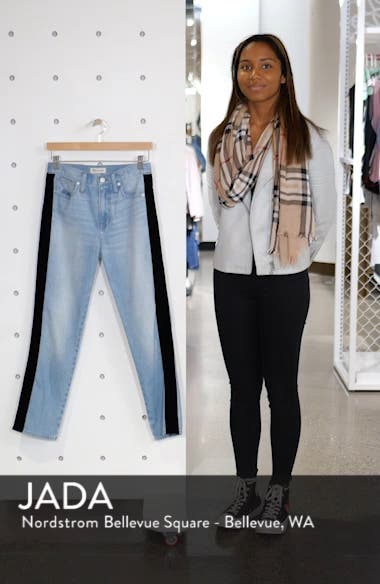 The Perfect Vintage Velvet Tux Stripe Jeans, sales video thumbnail