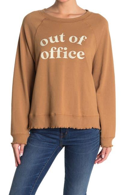 Image of LA LA LAND CREATIVE CO Out of Office Raglan Sweatshirt