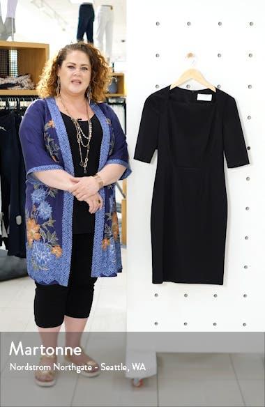 Dipiseta Stretch Wool Sheath Dress, sales video thumbnail