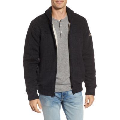 Schott Nyc Lined Wool Zip Sweater